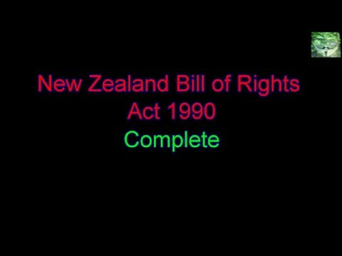 Meanings of Words - New Zealand Bill of Rights Act 1990 - Complete