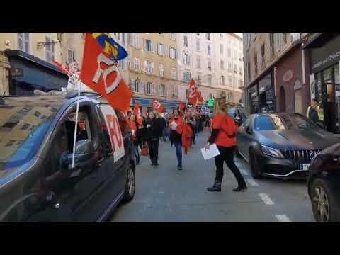 VIDEO. Réforme des retraites : les syndicats dans la rue à Bastia