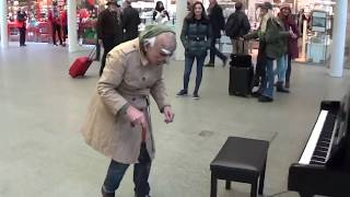 GRANDPA PLAYS DANCE MONKEY At The Mall On Piano