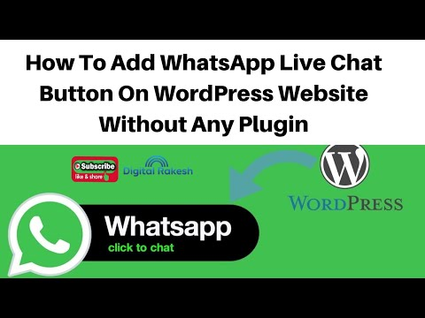 How to add WhatsApp live chat button on WordPress website without any plugin