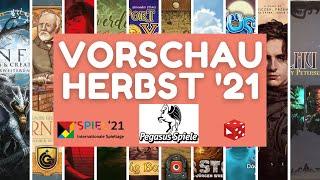 Spiel 2021 Essen • Pegasus Spiele • Vorschau / 2. Halbjahr 2021 - Über 36 (!!!) Brettspiel Neuheiten