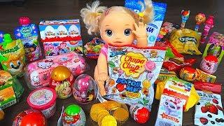 В БОЛЬШОЙ КОРОБКЕ С СЮРПРИЗАМИ Куклы Пупсики Чупачупсы Киндеры Игрушки для детей