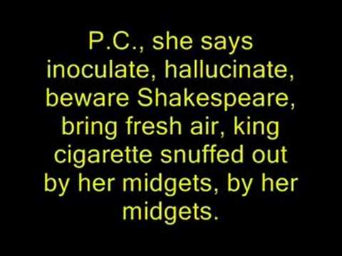 Manic Street Preachers - P.C.P. (lyrics)