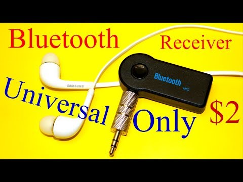 Bluetooth Music Receiver Universal Handsfree Car AUX Audio Adapter With Mic
