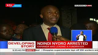 Ndindi Nyoro held at Murang'a Police Station