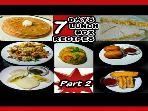 7 Days 7 Lunchbox recipes Part 2,Kids Lunchbox Recipes,Breakfast recipes,Lunchbox Recipes By Sweta