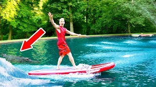 SURFING IN OUR BACKYARD... NO MORE POND MONSTER?!