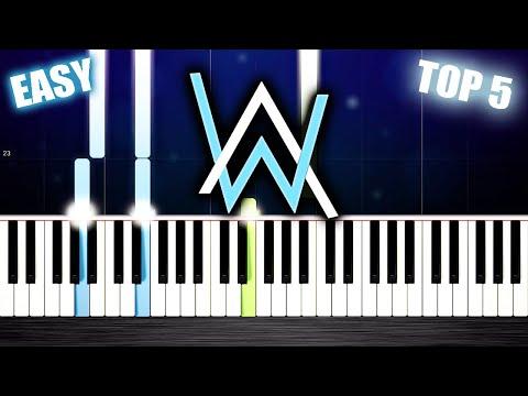 TOP 5 Alan Walker's Songs - EASY PIano Tutorials by PlutaX