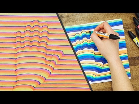 3D Hand Drawing Step by Step How-To Trick Art Optical Illusion