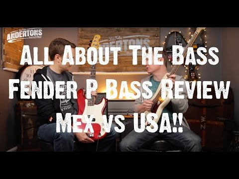 All About The Bass – Fender P Bass Review – Mex vs USA!!