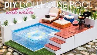 DIY Dollhouse Miniature Swimming Pool