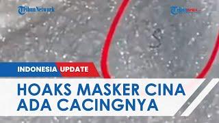 Heboh Video Warganet Buktikan Masker dari China Ada Cacing dan Ulat saat Direbus, Satgas Sebut Hoaks
