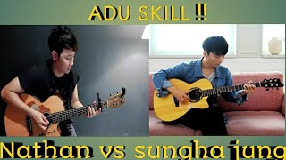 Gambar cover Payung Teduh - Akad, Adu skill gitar Nathan fingerstyle vs Sungha jung