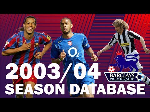 The 2003/04 Season on Football Manager 2019 | FM19 Database Experiment