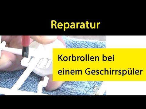 Austauschen der Korbrollen bei einem Whirlpool/Bauknecht Geschirrspüler