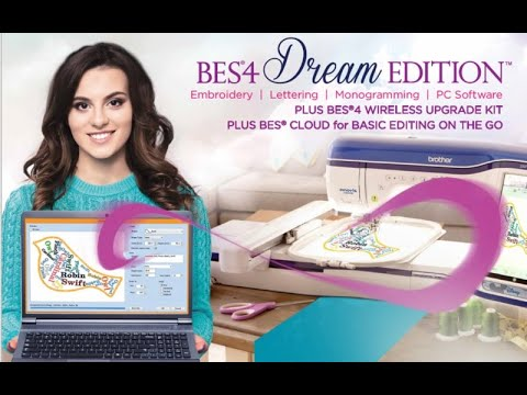BES4 Dream Edition™ Embroidery Lettering Software Work All Windows 10-8-7
