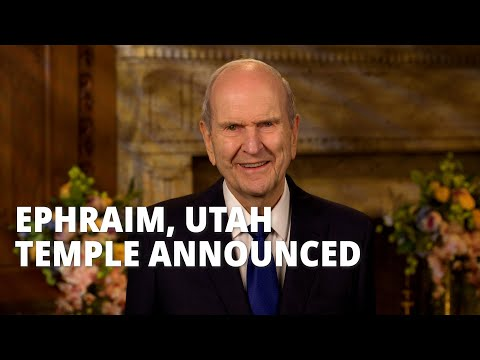New temple to be built in Ephraim, Utah