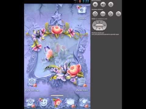 Video of ADW Theme Flower Vignette