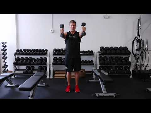 DB Neutral Grip Front Raise