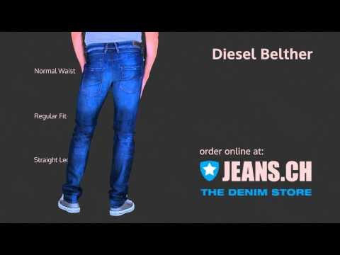 Diesel Belther Jeans Fit Videos von JEANS.CH