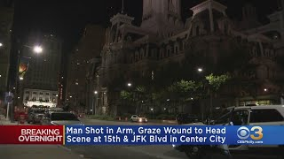 Police: Man Shot In Arm, Suffers Graze Wound To Head In Center City
