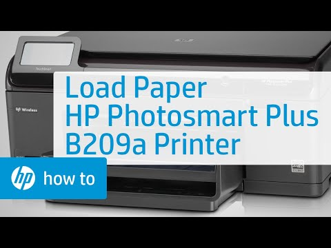 How to Load Paper into a Photosmart Plus B209a Printer