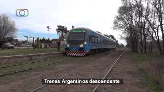 preview picture of video 'Tren inaugural de Trenes Argentinos a General Pico saliendo de Falucho'