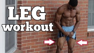 10 Min. Home Bodyweight Leg Workout - Follow Along by Austin Dunham