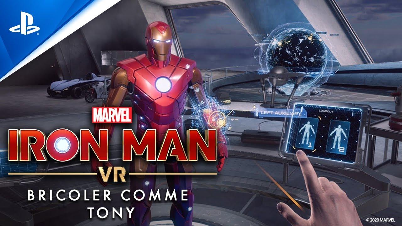 Les coulisses : bricoler sur l'armure à impulsions dans le garage de Tony dans Marvel's Iron Man VR