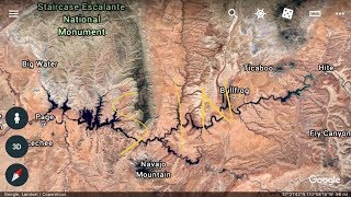 Where is lake powell on a map