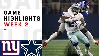 Giants vs. Cowboys Week 2 Highlights | NFL 2018