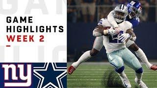 Giants vs. Cowboys Week 2 Highlights   NFL 2018