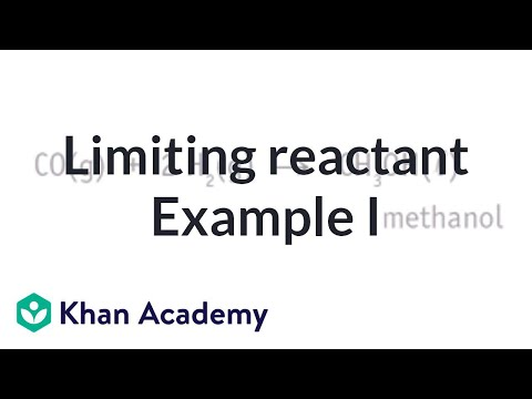 Limiting Reactant Example Problem 1 Video