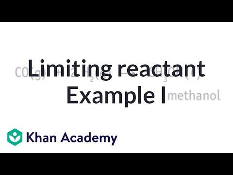 Limiting Reactant Example Problem 1 Video Khan Academy