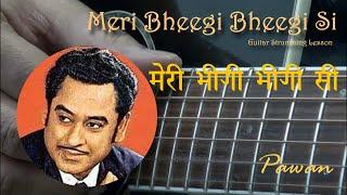 Meri Bheegi Bheegi Si - Guitar Lesson - Pawan - YouTube