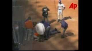 VIDEO: MLB Umpire John McSherry Suffers Massive Heart Attack (April 1, 1996)