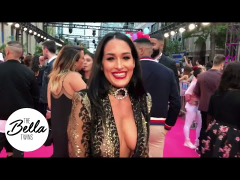 Nikki Bella SLAYS in a black sheer gown at iHeartRadio Much Music Video Awards!