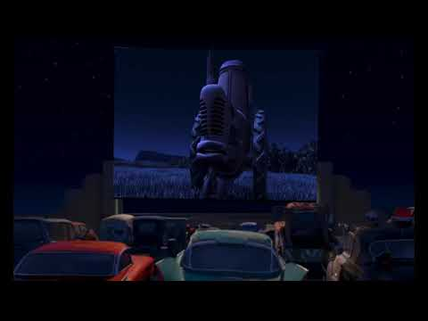 Cars Go To Radiator Springs Cinema To Watch Mcqueen & Mater Tractor Tipping