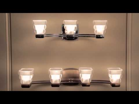 Video for Warren Polished Chrome Two-Light Bath Light Fixture with Inside Etched Glass