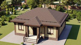 Проект дома 099-В, Площадь дома: 99 м2, Размер дома:  11,5x9,4 м