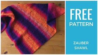 Easy Shawl Free Knitting Pattern