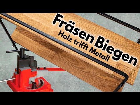 Badregal aus Metall und Holz - biegen, fräsen und Hirnholzleiste