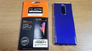 Sony Xperia 1 Spigen Screen Protector and Liquid Crystal Case Review