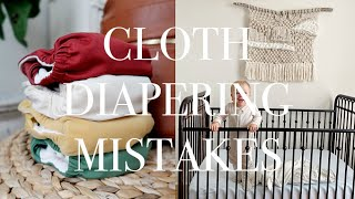 Cloth Diapering Mistakes | Current Wash Routine + Stash