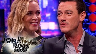 Luke Evans Sings Adele When We Were Young To Emily Blunt - The Jonathan Ross Show