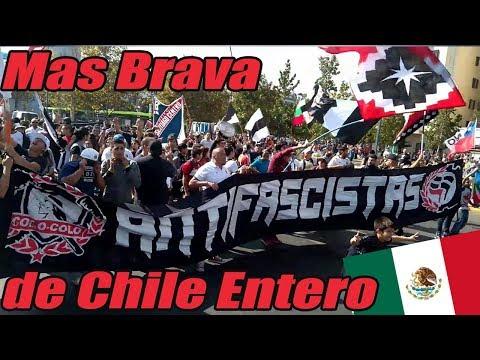"""""""La hinchada mas brava de chile entero (Letra) en Metro de Mexico"""" Barra: Garra Blanca • Club: Colo-Colo"""