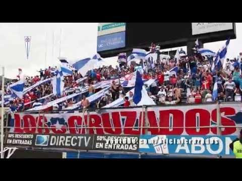"""""""El aliento de la hinchada en el Banderazo y en el Clásico"""" Barra: Los Cruzados • Club: Universidad Católica"""