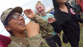 Seeing Arianne for the first time at Army Basic training graduation 2017