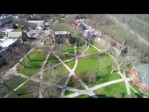 Geneva College: Aerial Imagery of Old Main and McCartney Library