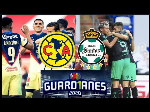 América vs Santos Jornada 4 Liga MX Guardianes 2020